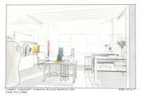 """Target """"Mischief"""" Fashion Studio Set Sketch"""