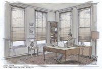 """Diet Coke """"Writer's Office"""" Set Sketch"""